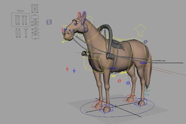 Шагая, лошадь последовательно